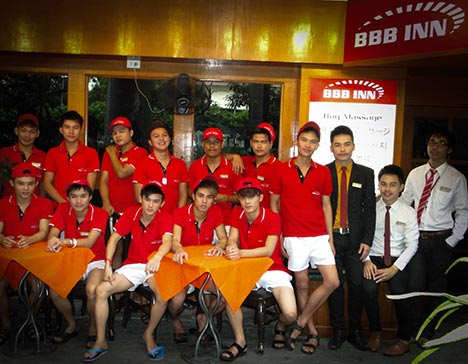 Staff of BBB Inn Gay Hotel
